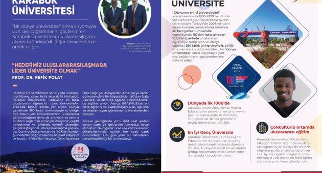 Karabük Üniversitesi National Geographic Eylül Sayısında