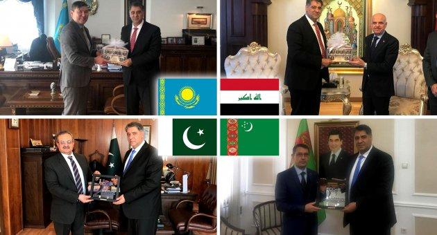 Rektör Polat, 4 ülkenin daha büyükelçisini ziyaret etti