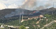 Anız yangınında  1 hektar arazi zarar gördü
