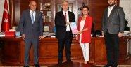Elif Başkan'dan Mansur Başkana Ziyaret