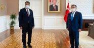 Rektör Polat, Sağlık Bakanı Koca'yı ziyaret etti