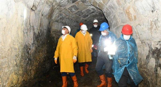 Vali Gürel, 1645 Tünel Projesini yerinde inceledi
